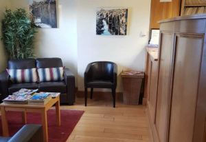 Reception area at Lucan Podiatry Practice